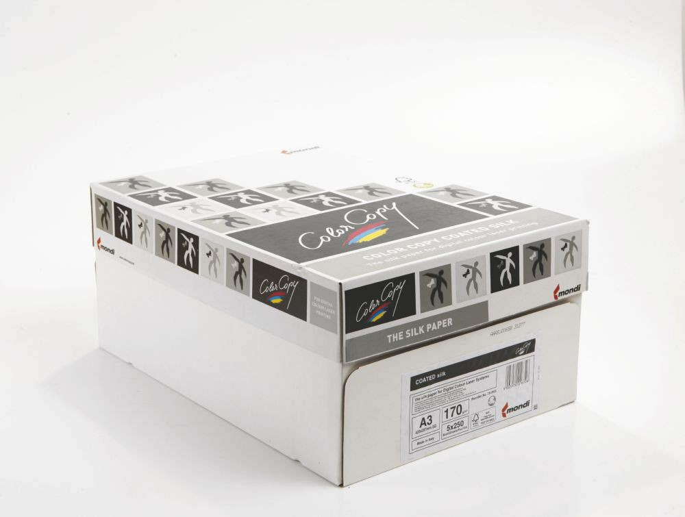 Color Copy Paper Coated Silk White FSC4 A3 420x297mm 170gm Pack 250