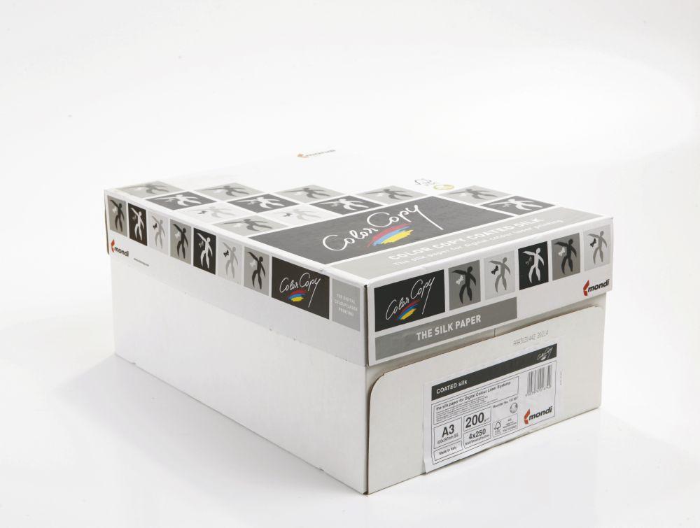Color Copy Paper A3 Coated Silk White FSC4 210x297mm 200gm Pack 250