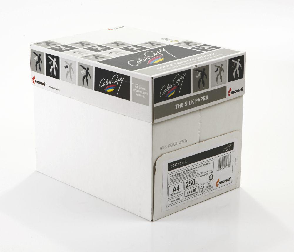 Color Copy Paper Coated Silk White FSC4 A4 210x29 7mm 250gm Pack 250