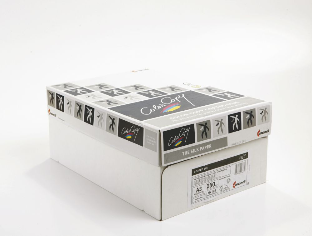 Color Copy Paper Coated Silk White FSC4 A3 420x29 7mm 250gm Pack 125