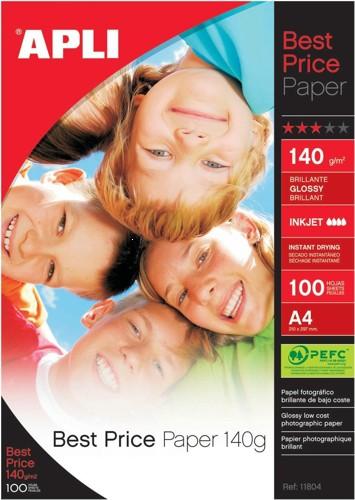 Apli BestPrice GlossyPaper A4 140g Pk100