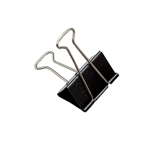 Whitecroft Foldback Clip 24mm Black Ref 23731 [Pack 10]