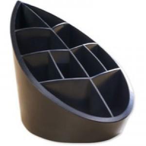 Avery DTR Eco Pen Pot 10 Compartments Leaf Design 100x180x119mm Black Code DR450BLK