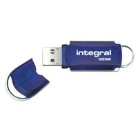 Integral Courier Flash Drive with LED Light USB 2.0 Read 12MB/s Write 3MB/s 32GB Ref INFD32GBCOU
