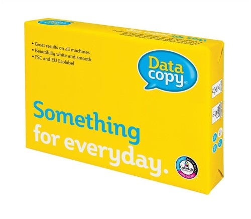 Data Copy Everyday Paper Ream-Wrapped 80gsm Punched 4 Hole A4 White Ref 4594 [500 Sheets]