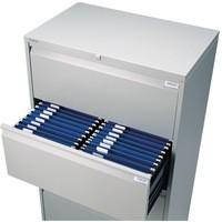 Bisley Side Filing Cabinet 3-Drawer W800xD470xH997-1021mm Goose Grey Ref SF3N