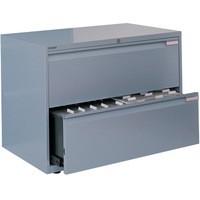 Bisley Side Filing Cabinet 2-Drawer W800xD470xH693-717mm Goose Grey Ref SF2N