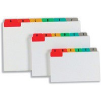 Image for Guide Cards Reinforced A-Z 152x102mm White with Tabs Multicoloured