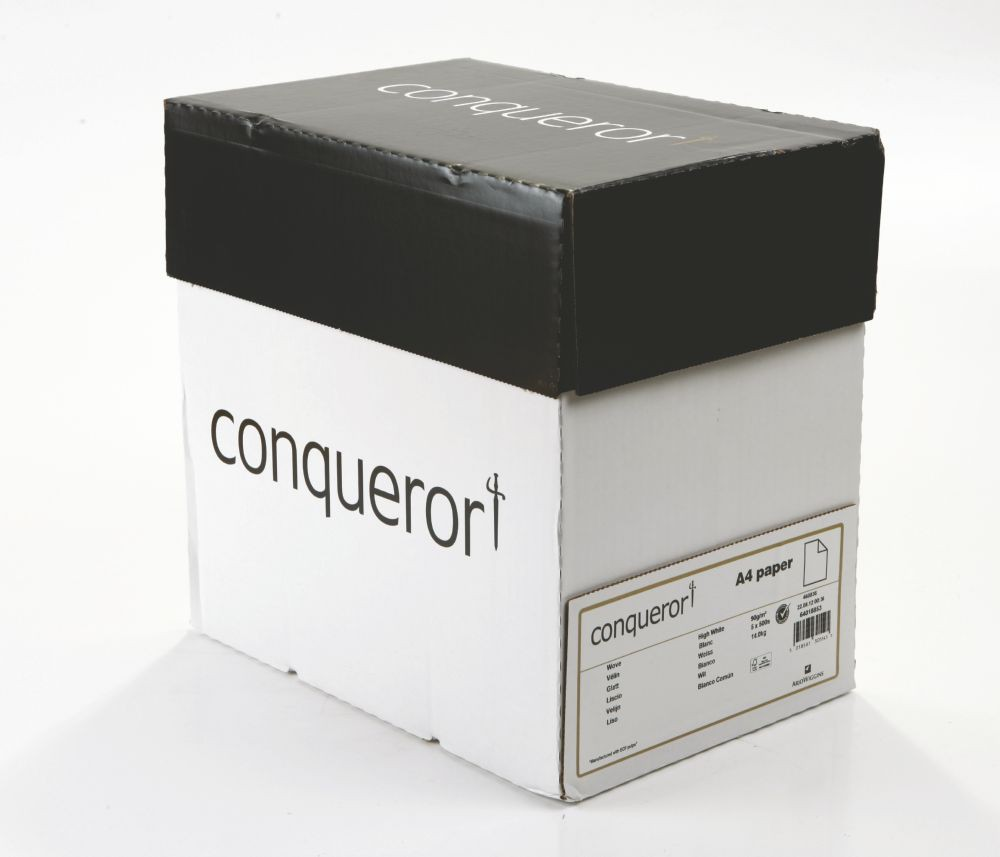 Conqueror Paper Smooth/Satin Wove High White FSC4 A4 210x297mm 90Gm2 Watermarked Pack500