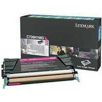 Lexmark Laser Toner Cartridge Page Life 10000pp Magenta Ref C736H1MG