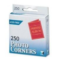 Photo Corners Self-Ad Vinyl Clear Pk250