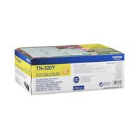 Brother Laser Toner Cartridge Page Life 1500pp Yellow Code TN320Y