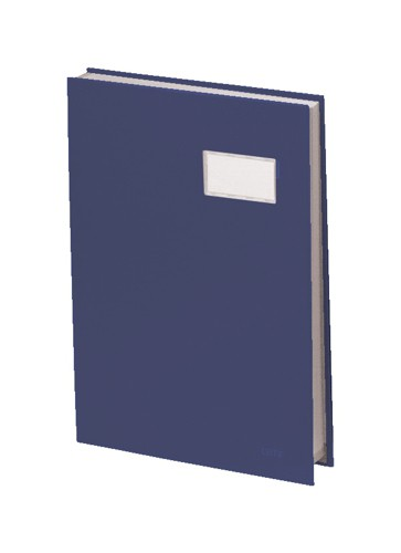 Signature Book 20 Compartments Durable Blotting Card 340x240mm Blue