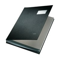 Image for Signature Book 20 Compartments Durable Blotting Card 340x240mm Black