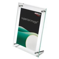Sign or Menu Display Holder Bevelled Edge Acrylic 216x279mm Clear
