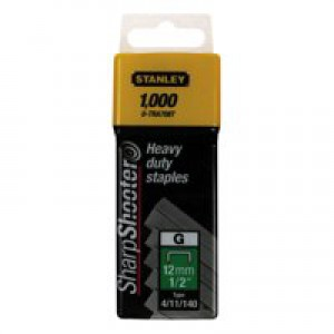 Stanley 12mm Staples QTY 1000 1-TRA708T