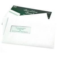 Basildon Bond Envelopes Recycled Pocket Window Peel and Seal 100gsm C5 White Ref M80278 [Pack 50]