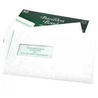 Basildon Bond Envelopes Recycled Pocket Window Peel and Seal 100gsm C5 White Ref M80278 [Pack 50]