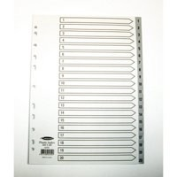 Concord Grey Index Polypropylene 120 Micron Europunched 1-20 A4 Ref 62705