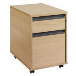 M25 2 draw mobile pedestal 1 Oak