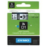 Dymo D1 Tape for Electronic Labelmakers 12mmx7m Black on Clear Code S0720500
