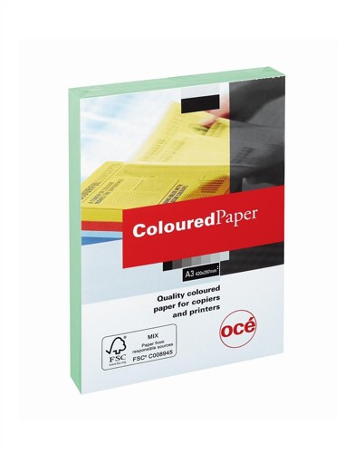 Multifunctional Paper Coloured Ream Wrapped 80gsm A3 Green [500 Sheets]