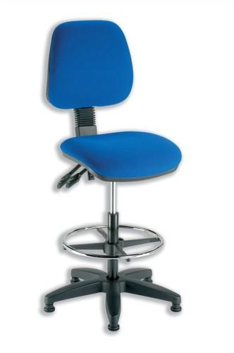 Trexus Checkout Chair Folding Backrest H390mm Seat W460xD460xH590-840mm Blue