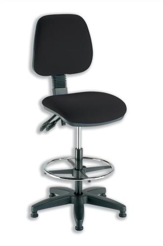 Trexus Checkout Chair Folding Backrest H390mm Seat W460xD460xH590-840mm Charcoal