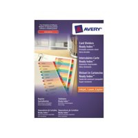 Avery Ready Index Mylar Jan-Dec with Printable Contents Sheet Code 02002501