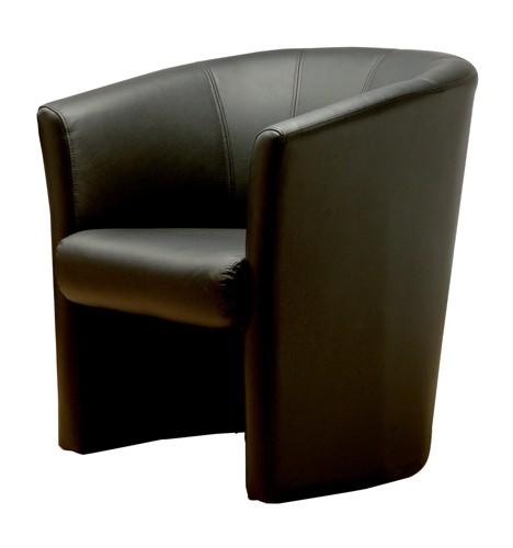 Trexus Plus Tub Chair Leather W720xD660xH760mm Black