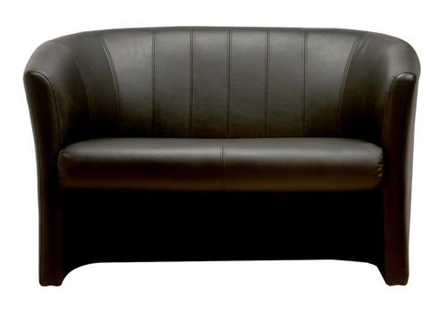 Trexus Plus Tub Sofa Leather W1220xD660xH760mm Black