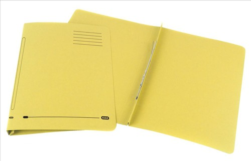 Elba Ashley Flat File 315gsm Capacity 35mm Foolscap Yellow Ref 100090284 [Pack 25]
