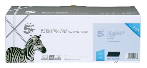 5 Star Compatible Laser Toner Cartridge Page Life 2500pp Black [HP No. 92A C4092A Alternative]