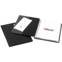 Rexel Nyrex Slimview Display Book 24 Pockets A4 Black Ref 10015BK