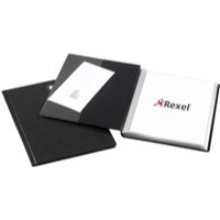 Rexel Nyrex Slimview Display Book 50 Pockets A4 Black Ref 10048BK