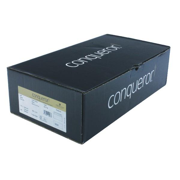 Conqueror Laid High White DL Envelope FSC4 110x220mm Super Seal Banded 50 Window 22Up 17Lhs