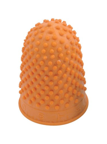 Quality Thimblette Rubber for Note-counting Page-turning Size 3 Extra Large Orange Ref  [Pack 10]