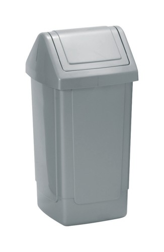 Swing Top Bin 35 Litres Metallic