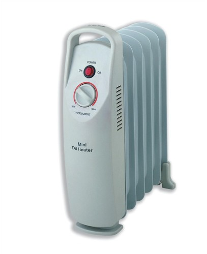 Heatrunner Mini Radiator Oil-filled with Thermostat for 5m.sq 500W W132xD130xH385mm Ref NY5P-6