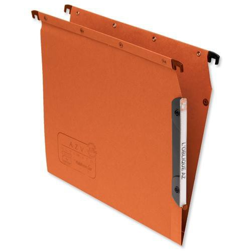 Elba Suspension File Lateral Manilla V-base 240gsm A4 Orange Ref 100330473 [Pack 25]