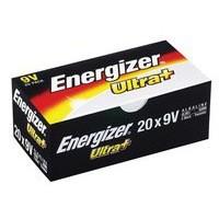 Energizer UltraPlus Batteries 9v Bulk Pack Ref 632874 [Pack 20]