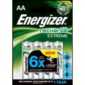Energizer Battery Rechargeable Advanced NiMH Capacity 2500mAh LR06 1.2V AA Pack 4 Code 625997