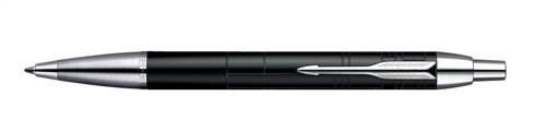 Parker IM Ball Pen Black Chrome Trim Blue Ink Ref S0856430