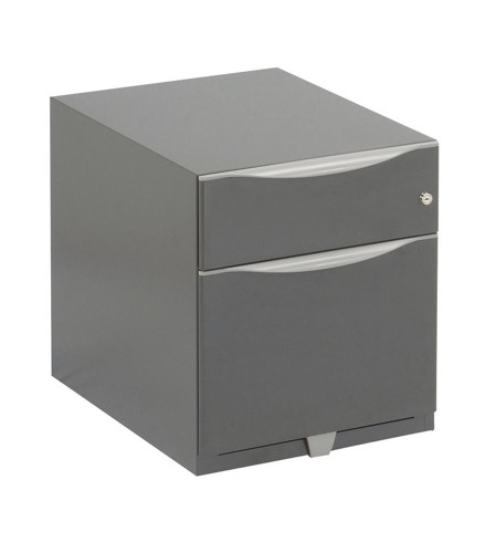 Trexus Sonix Filing Pedestal Steel Low Under-desk 2 Drawer Foolscap W420xD564xH495mm Grey