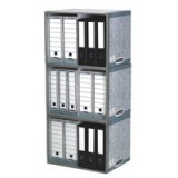 Bankers Box by Fellowes System Archive Stax File Store Stackable Ref 01850 [Pack 5]