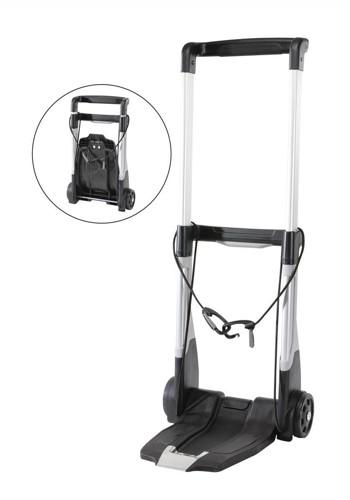Raaco Trolley Folding with Extendable Back Heavy-duty Plastic Frame 2-Wheel Capacity 200kg Ref 760058