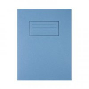 Silvine Exercise Book Ruled and Margin 80 Pages 229x178mm Blue Ref EX104 [Pack 10]