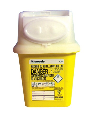 Wallace Cameron Sharps Disposal Bin Anti-contamination First Aid 4 Litre Ref 4402001