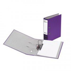 Eastlight Karnival Lever Arch File Paper over Board Slotted 70mm A4 Purple Code 20747EAST