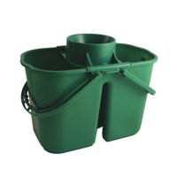 Duo Mop Bucket Colour Coded 7 and 8 Litre Sections Total 15 Litre Green